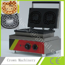 Free Shipping Commecial electric Hello kitty shape waffle maker;waffle baking machine
