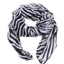 1 Pcs Summer Style Women Girls Fashion Scarves Long Zebra Printed Scarf Shawl Hot Sell Scarf