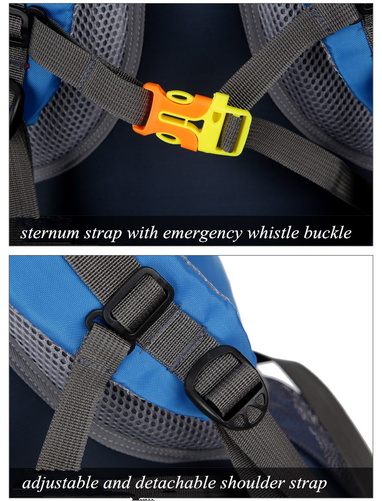 Sternum Strap with Emergency Whistle Buckle and Adjustable and detachable shoulder strap