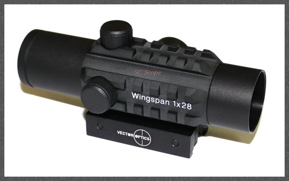Vector Tactical 1x28 Tri-Rails Red Dot Sight Scope With Integrated Twin Mount for 20mm Picatinny and 11mm Dovetail Rail Hunting <br><br>Aliexpress
