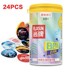 Buy Elasun 24 PCS condoms men Natural Latex 8 Types Ultra Thin Condoms Lubricated Condom contraception sex toy products men