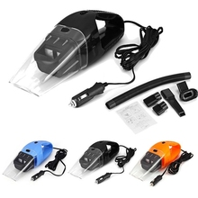 10PCS/LOT Portable 120W 12V Car Vacuum Cleaner Handheld Mini Super Suction Wet And Dry Dual Use Vaccum Cleaner For Car