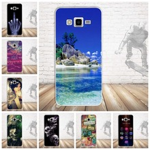 For Samsung Galaxy Grand Prime Soft Silicon Phone Case Skin TPU Cover for Samsung Galaxy Grand Prime G530 G5308W Skull Pattern