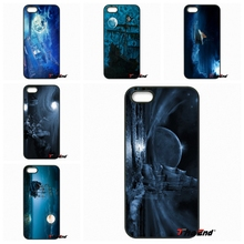For Samsung Galaxy A3 A5 A7 A8 A9 Pro J1 J2 J3 J5 J7 2015 2016 Amazing Old Ship in Sea Moon Night Cell Phone Case Cover