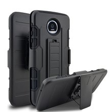 Shockproof Phone Cases For Motorola Moto z droid Armor Kickstand Belt Clip Holster Case For Moto z droid Silicon Hard Back Cover