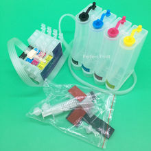 4 Color T0631-T0634 Empty CISS Ink System With Permanent Chip For Epson Stylus C67 C87 CX3700 CX4100 CX4700 Printer(China)
