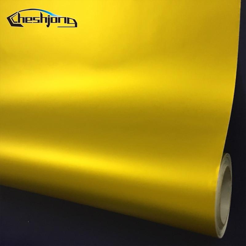 Matte-chrome-Golden-Car-Wrap-Vinyl-Sheet-4