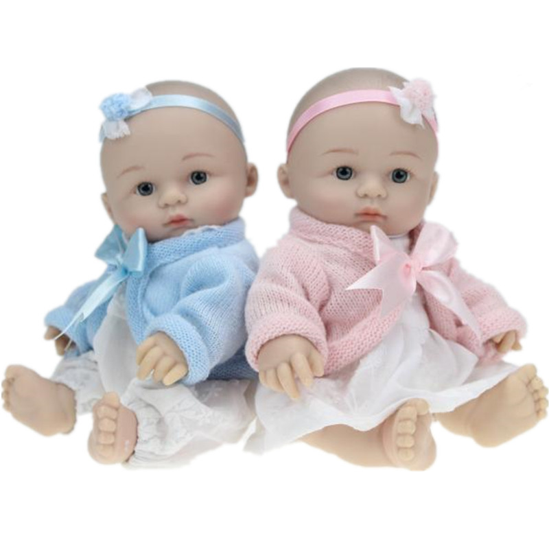 25cm 10 Lifelike Baby Dolls Realistic Baby Doll Mini Silicone Reborn Babies Kids Bath Toys Doll Gentle Touch Gifts Juguetes<br><br>Aliexpress