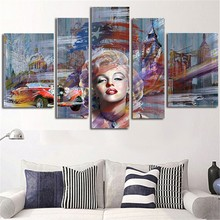 5 Plane Large Size Wall Painting Marilyn Monroe Canvas Art Picture Morden Posters Paintings Home Decoration Without Framed