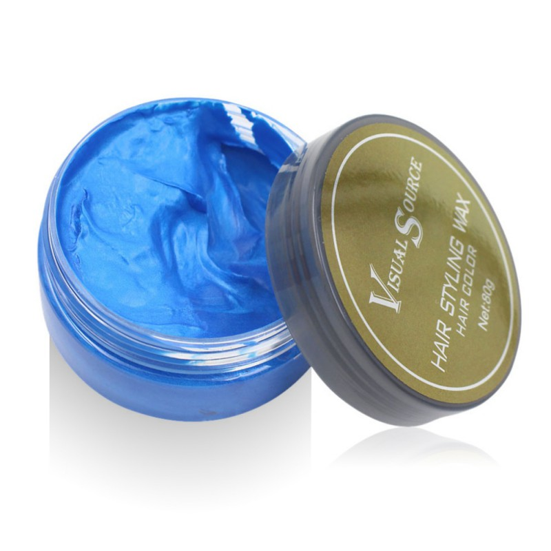 Professional Dynamic Modeling Hair Wax Makeup 5 Colors Hair Dye Wax Hair Color One-time Molding Paste Color Hair Wax New 2018 8