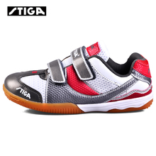 Genuine stiga  G1208923 children table tennis shoes for kids boy and girls ping pong sport sneakers