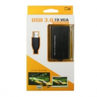 30pcs/lots Aluminum Alloy Shell USB 3.0 to VGA Video Graphic Card Display External Cable Adapter for Windows 7 WIN 8<br>