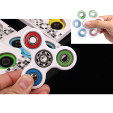 White/Black Tri-Spinner Fidget Toy Plastic EDC Fidgets Hand Spinner For Autism ADHD Increase Focus Anti Stress Ceramic bearing