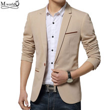 Mwxsd brand Mens slim fit Blazer jacket casual men blazer suit big size male clothing 4xl 5xl(China)