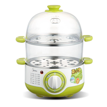 Mdiea Multifunctional Electric Egg Boiler Cooker  Steamer  Mini Stainless Steel Double Electric Steamer