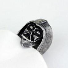 Wholesale Star War Darth Vader Ring Hip Hop Jewelry Rings for  Men Women Punk Accessories Finger Rings