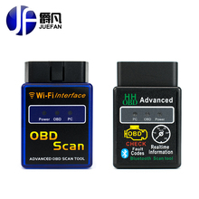 JUEFAN Profession Wifi bluetooth OBD2 Interface Scanner ELM 327 OBD II Supports Android IOS PC System OBD2 Diagnostic Tool(China)