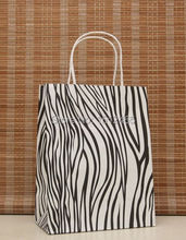 10pcs/lot Zebra kraft paper bag with twisted handle Party Favors Bags shopping bags 27*21*11cm STD02-28(China)
