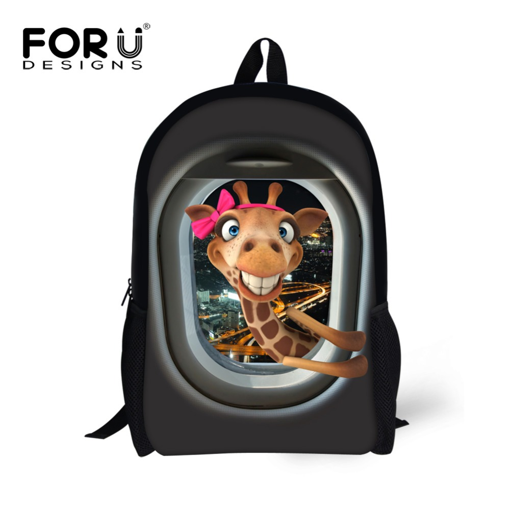FORUDESIGNS New Arrival 16 inch Cute Animal Cat Printing Children School Bags Animal Kids School Backpacks Student Bags<br><br>Aliexpress