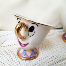 Limited edition Beauty and the Beast Tea Cup Set Mrs Potts' son : Chip Cup Tea Set Coffee Ceramic Mug Porcelain Lovely Xmas Gift
