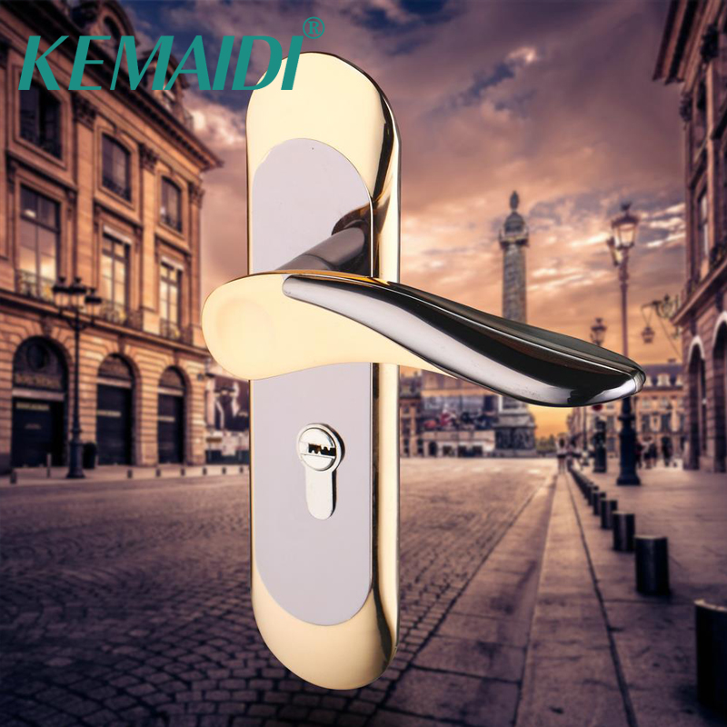 KEMAIDI Modern Style House Interior Door Lock Handle Home Door Locks Wood Gate Door Lock For Furniture Hardware<br>