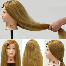 "Cosmetology Training Head Mannequin,90% Real Hair, 26"" Long Hairdressing Hair Styling Mannequin Doll Salon Model"
