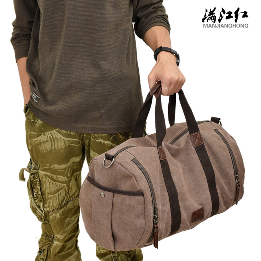 2016 Vintage bag Messenger Bag Mens Vintage Canvas School Military Shoulder Bag Retro Style For Man Canvas Handbag<br>