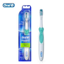 Oral B Cross Action Electric Toothbrush Dual Clean Teeth Whitening Non-Rechargeable Teeth Brush 4 Colors Random Delivery