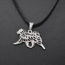 2018 Fashion Jewelry Rope Chain Metal Movement Samoyed Necklaces Lovers Alloy Animal Dog Necklaces Drop Shipping(China)