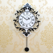 Modern Decoration Fashion Mute Personalized Swing Wall Clock 31.5*58CM BFXK-N8169(China)