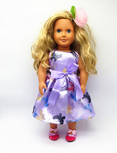 "Free shipping!!! hot 2016 new style Popular 18"" American girl doll clothes/dress 2009(China)"