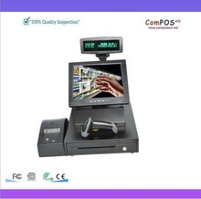 pos all in one/nice quality/hot sales  12-inch Touch cash register/POS machine 58mm receipt printer+Cash drawer  barcode scanner