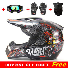 Buy one get three free Motocross Helmet ATV Dirt Bike Downhill MTB DH Racing Helmets Capacete Casco Motoqueiro Protective Casque