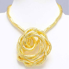 High quality wholesale iron gold plated bendable flexible snake necklace 5mm,90cm,10pcs/pack