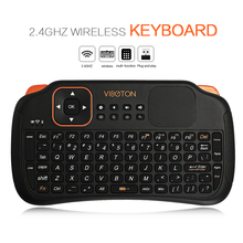 Tianfour Viboton S1 Rechargeable 3-in-1 2.4GHz Wireless Keyboard + Air Mouse  with Touchpad for Windows Linux