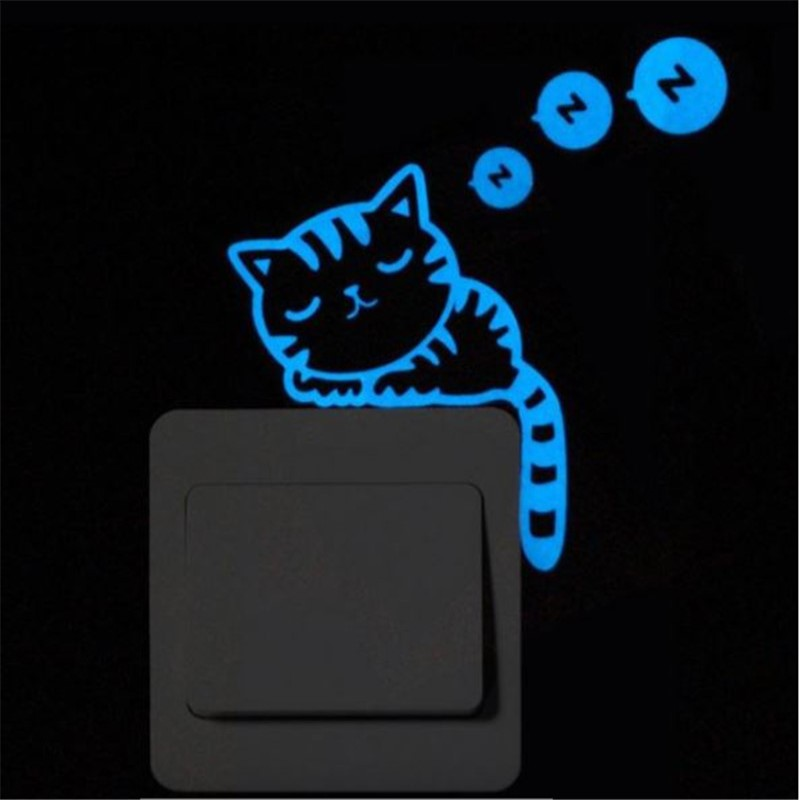 Luminous Stickers Super Bright Home Decoration DIY Funny Cute Cat Switch Glow in the Dark Living Room Sticker poster Luminous Stickers Super Bright Home Decoration DIY Funny Cute Cat Switch Glow in the Dark Living Room Sticker poster HTB1OyW2bFGWBuNjy0Fbq6z4sXXa4