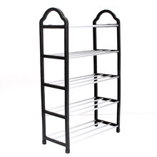 HOT GCZW-5 Tier Home Storage Organizer Cabinet Shelf Space Saving Shoe Tower Rack Stand Black(China)