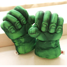 Creative Green plush big gloves Boxing gloves children boy baby plush toy Christmas gift 1 pay(China)