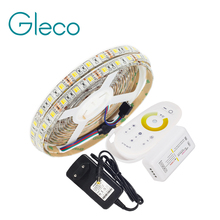 LED STRIP 5050 SET 2 IN 1 White+Warm white LED Strip Light 5050 CWW with 2.4G RF CCT Controller, 12V Power Supply EU Plug(China)