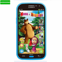 Baby Mobile Phone Toy Masha and Bear Russian Language Kids Children Electronic Music Toys Cellphone Telephone Gifts for Baby