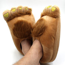 Movie Hobbit Cosplay Costumes Accessories Shoes Creative BigFoot Cotton Slippers Lovers Keep Warm Home Shoes(China)