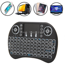 NEW Mini 2.4G 3 Color Backlit Wireless Touchpad Keyboard Air Mouse For PC Pad Android TV Box/X360/PS345 #R179T#Drop Shipping