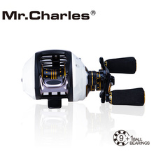 Mr.Charles 9BB+1RB NMB 6.5:1 Left/Right cyclone1505/1510 Bait Casting High tensile strength plastic Fishing Reel Bearing(China)