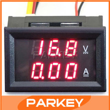 "5pcs 0.28"" 12V/24V YB27-VA DC Voltmeter Ammeter Car Motorcycle Battery Monitored Voltage 2in1 0-100V/10A LED Red Display #200932"