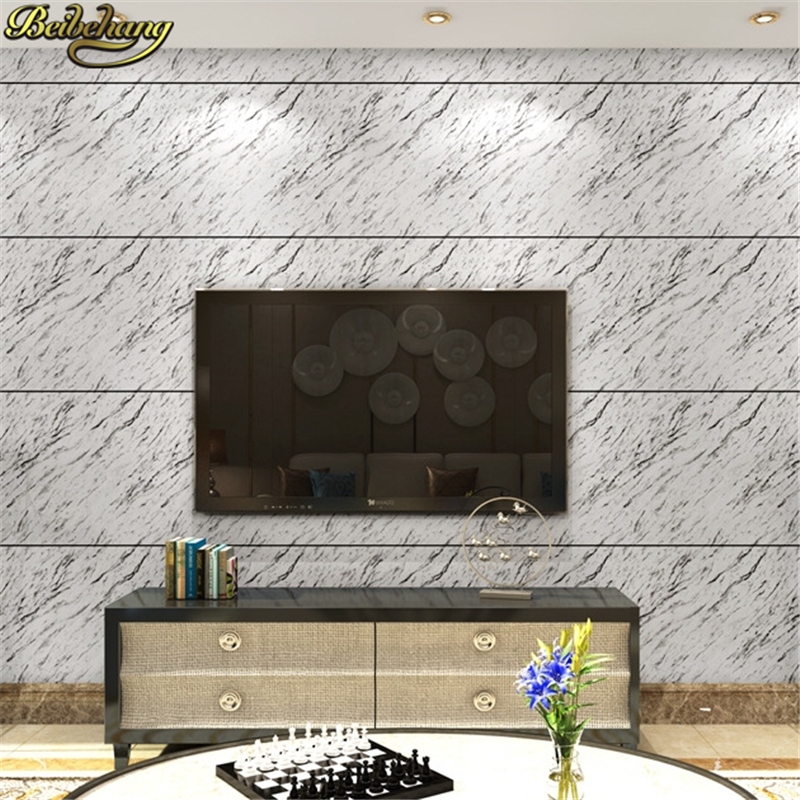 beibehang papel de parede 3D PVC marble Wallpaper For Wall Living room stripe Wall Paper Roll home decor bedroom TV Background<br>