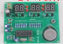 DIY Kits AT89C2051 Electronic Clock Digital Tube LED Display Suite Electronic Module Parts and Components DC 9V - 12V(China)