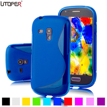 S Line Anti-skid Soft TPU GEL Skin Cover For Samsung Galaxy S3 SIII Mini i8190 4.0 inch Mobile Phone Silicone Protective Case(China)