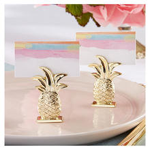 Resin Card Holder Pineapple Fruit Shape Table Sign Photo Holder Party Direction For Wedding Birthday Party Gold Color 1 PC(China)