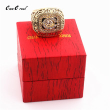 American 8 to 14 size 1985 Chicago Bear Super Bowl Rugby Champion Ring and Ring Box / Men's Sports Fan Series Gifts