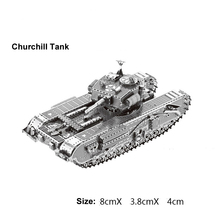 Churchill Tank model 3D laser cutting puzzle DIY metal tank jigsaw free shipping best birthday gift educational toy room decor(China)